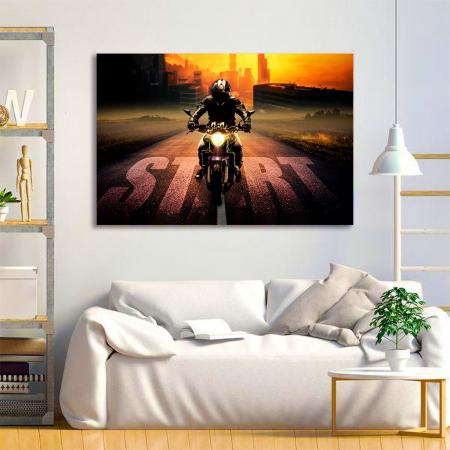 Tablou Canvas - Moto1