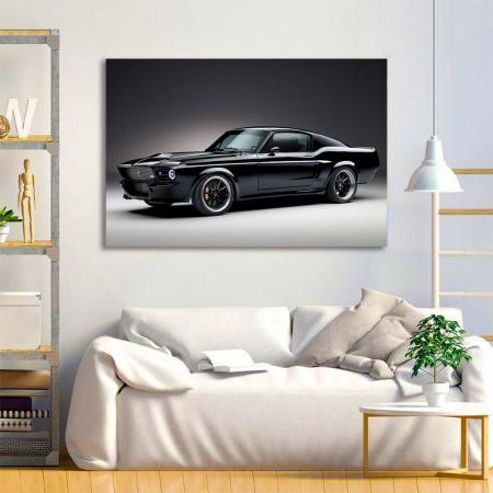 Tablou Canvas - Mustang black1