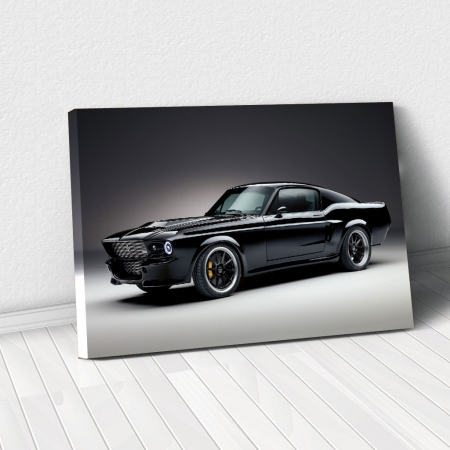 Tablou Canvas - Mustang black0