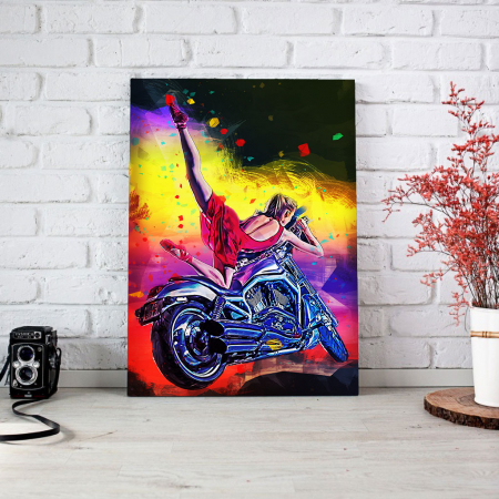 Tablou Canvas - Moto girl1