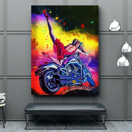 Tablou Canvas - Moto girl2
