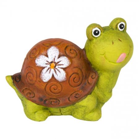 Țestoasă decorativă din ceramică-11x6x7,5 cm0
