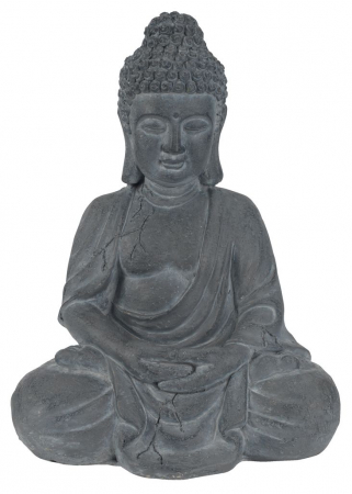 Statuie grădină buddha, 24x31x42 gri0