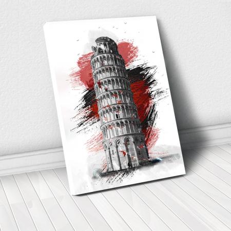 Tablou Canvas - Turnul din pisa0