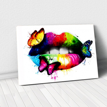 Tablou Canvas - Lips Multicolor0