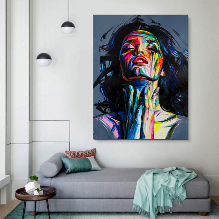 Tablou Canvas - Painted girl art2