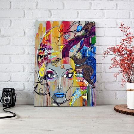 Tablou Canvas - Graffiti portret1