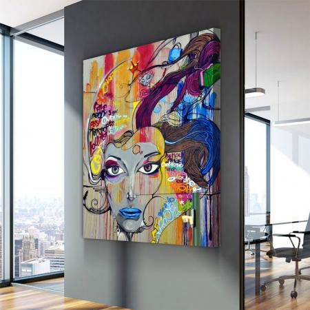 Tablou Canvas - Graffiti portret2