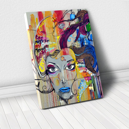 Tablou Canvas - Graffiti portret0