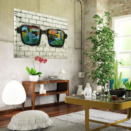 Tablou Canvas - Grafitti glasses1