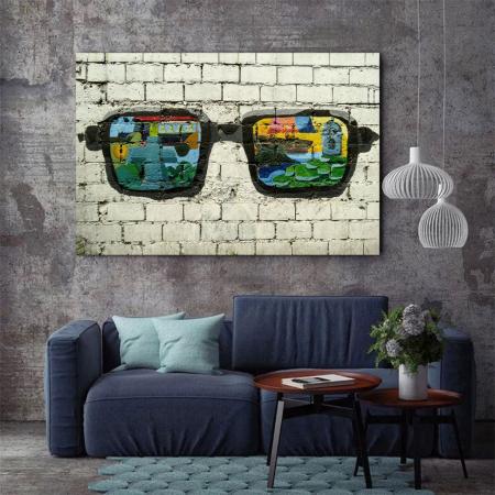 Tablou Canvas - Grafitti glasses3