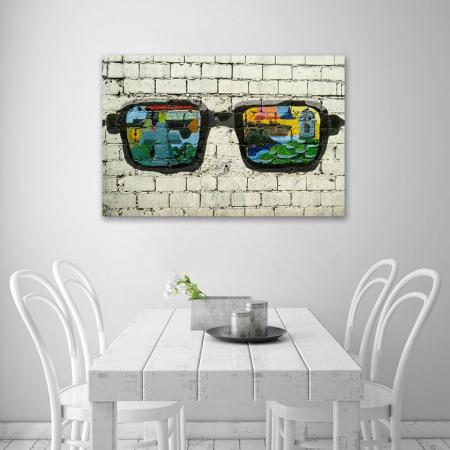Tablou Canvas - Grafitti glasses4