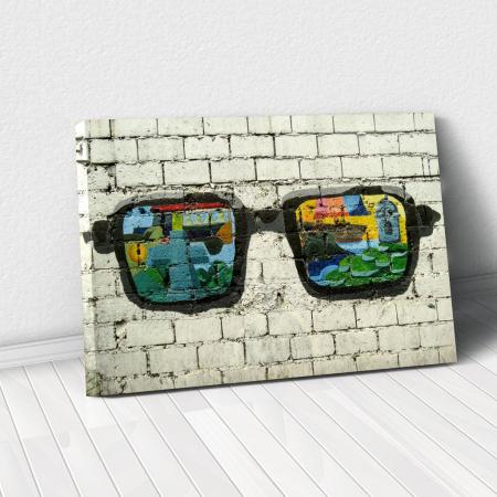 Tablou Canvas - Grafitti glasses0