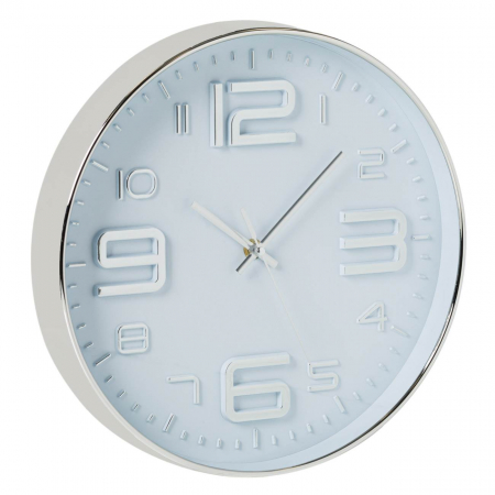 Ceas de perete Argintiu metalic 30 cm [0]