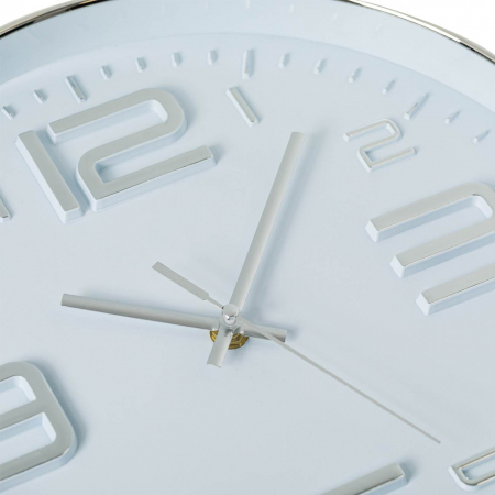 Ceas de perete Argintiu metalic 30 cm [1]