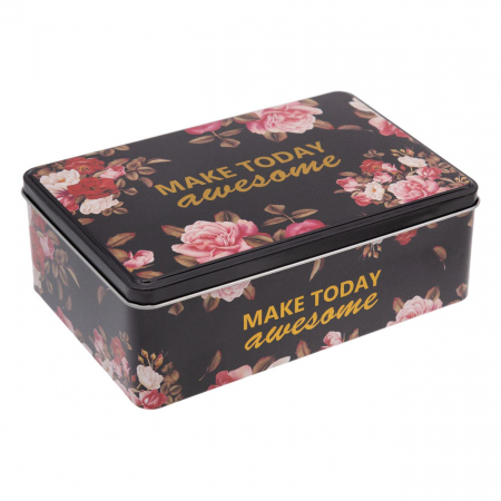 Cutie de depozitare din metal cu flori 1,82 lt0