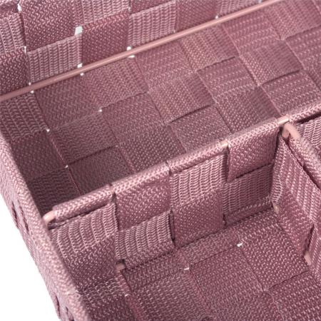 Cutie roz tricotată-4 locuri depozitare-33x24x7 cm1