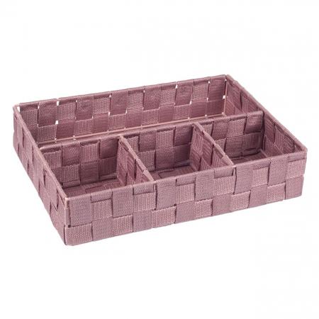 Cutie roz tricotată-4 locuri depozitare-33x24x7 cm0