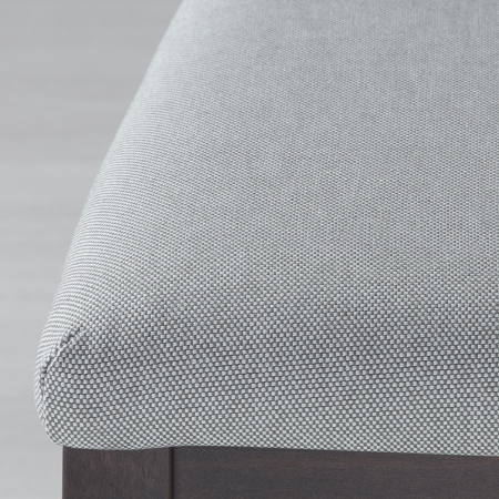 Scaun negru lemn masiv de fag,tapițat.3