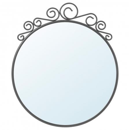 Oglindă otel, rotunda 50x60 cm [2]