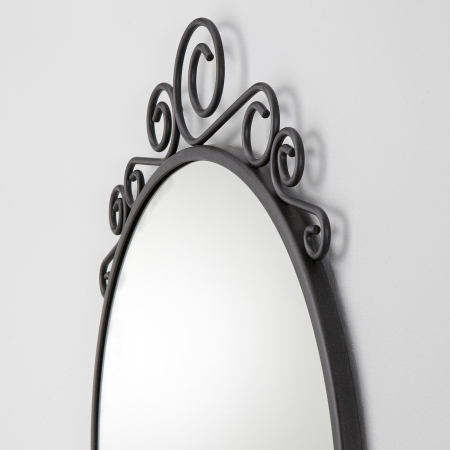 Oglindă otel, rotunda 50x60 cm [3]