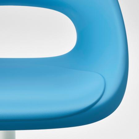 Scaun rotativ, albastru, alb2