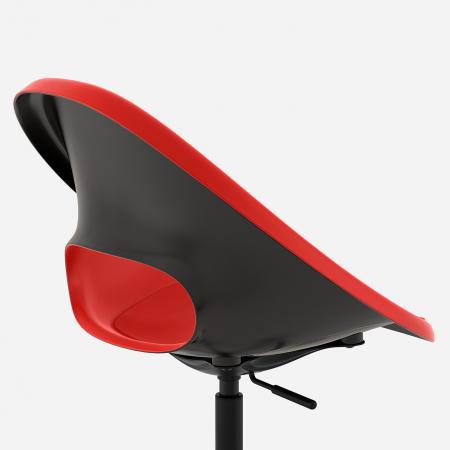Scaun rotativ, roşu, negru [2]