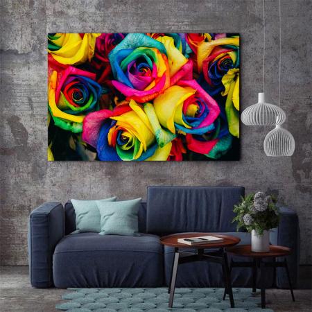 Tablou Canvas - Rainbow Roses [2]