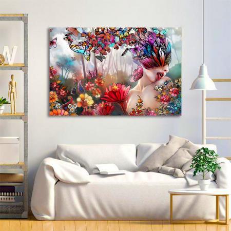 Tablou Canvas - Creativitate florala [1]
