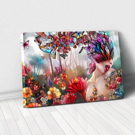 Tablou Canvas - Creativitate florala [0]