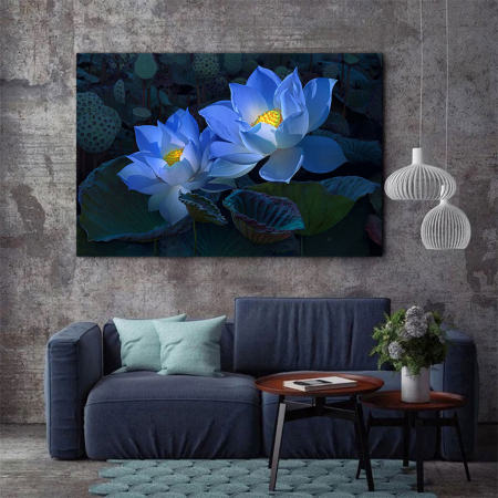 Tablou Canvas - Floral blue2