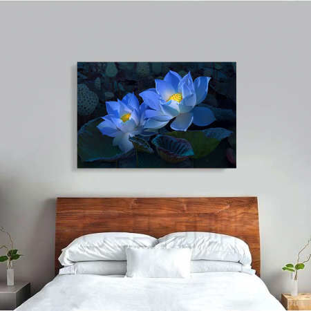 Tablou Canvas - Floral blue3