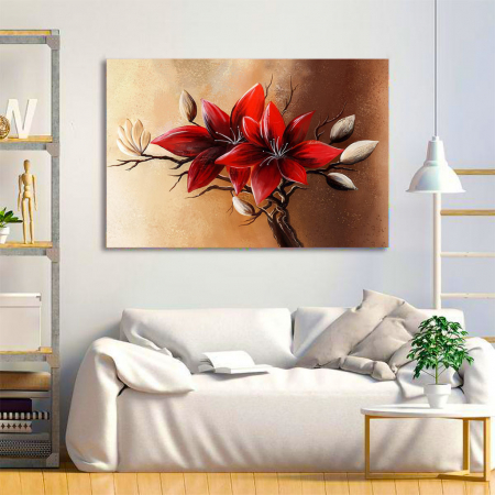 Tablou Canvas - Floral red [1]