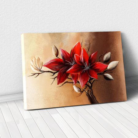 Tablou Canvas - Floral red [0]