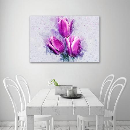 Tablou Canvas -Lalele violet3