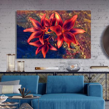 Tablou Canvas - Crini rosii [2]