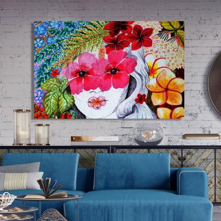 Tablou Canvas - Portret floral2