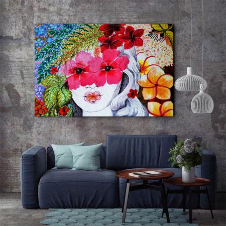 Tablou Canvas - Portret floral3