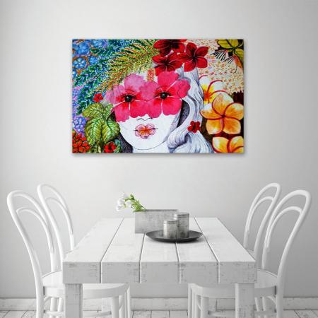 Tablou Canvas - Portret floral4