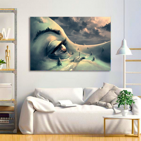 Tablou Canvas - World's face1