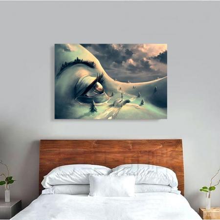 Tablou Canvas - World's face3