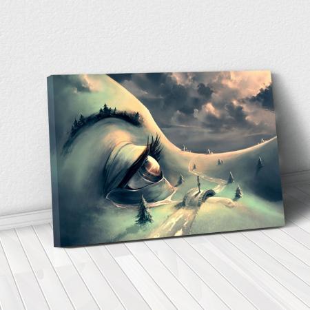Tablou Canvas - World's face0