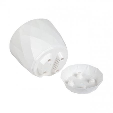 Ghiveci alb Evoque,plastic-17,5x15,3 cm1