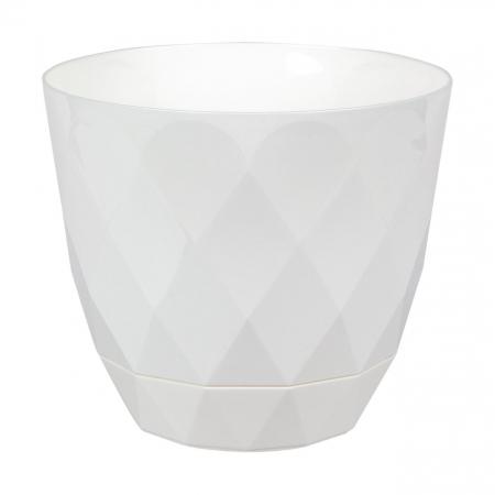 Ghiveci alb Evoque,plastic-17,5x15,3 cm0