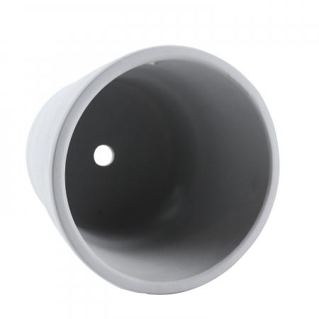 Ghiveci ceramic, gri, 18 x 16 cm [1]