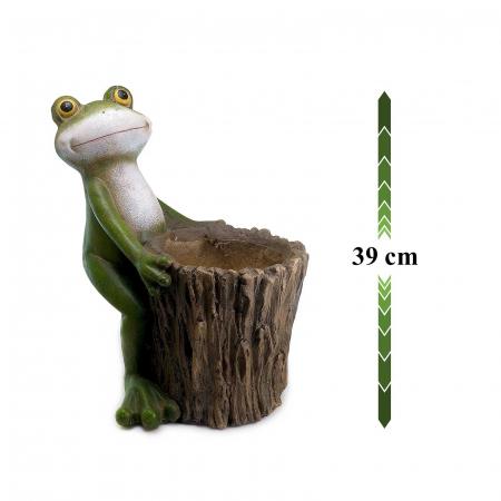 Ghiveci decorativ broască,ceramică, 32.2 x 24.5 x 39 cm [1]