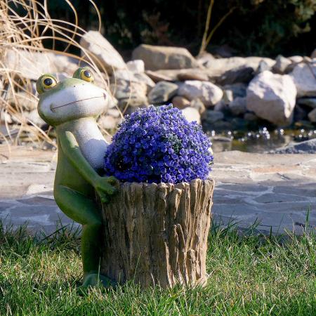 Ghiveci decorativ broască,ceramică, 32.2 x 24.5 x 39 cm [3]