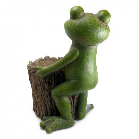 Ghiveci decorativ broască,ceramică, 32.2 x 24.5 x 39 cm [2]