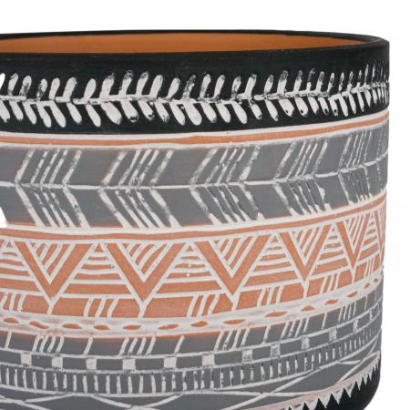 Ghiveci ceramic gri-negru-12x10 cm [1]