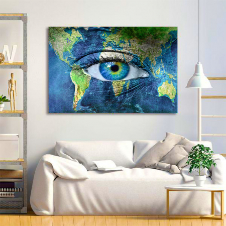 Tablou Canvas - Eye of the map1